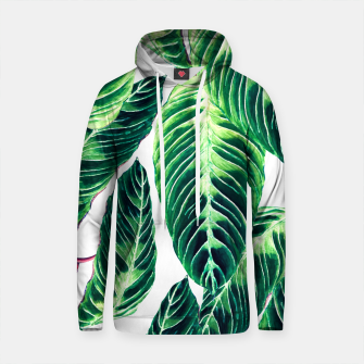 Thumbnail image of Seamless tropical leaf pattern Sudadera con capucha de algodón, Live Heroes
