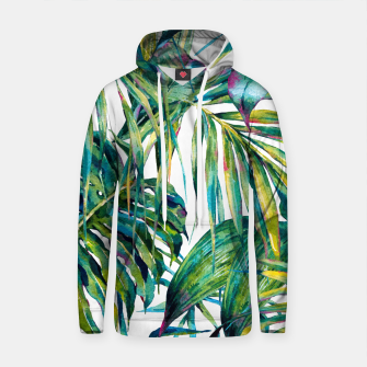 Thumbnail image of Nature leaves exotic watercolor I Sudadera con capucha de algodón, Live Heroes