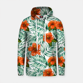 Thumbnail image of Botanical pattern with tropical flowers Sudadera con capucha de algodón, Live Heroes