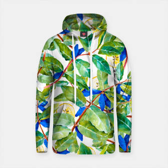 Thumbnail image of Honeysuckle pattern berries and pears Sudadera con capucha de algodón, Live Heroes