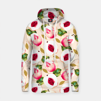 Thumbnail image of Pink Peach Pattern Sudadera con capucha de algodón, Live Heroes