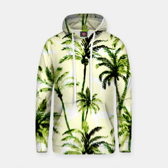 Thumbnail image of Tropical watercolor palm trees pattern Sudadera con capucha de algodón, Live Heroes