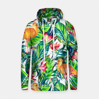 Thumbnail image of Exotic bird in the tropical jungle Sudadera con capucha de algodón, Live Heroes