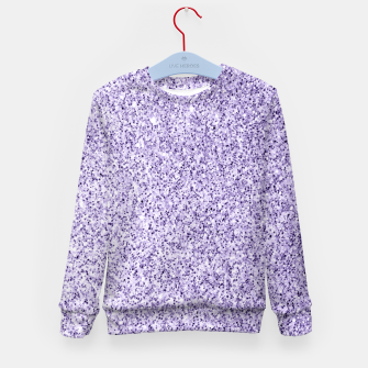 Thumbnail image of Ultra violet light purple glitter sparkles Kid's sweater, Live Heroes