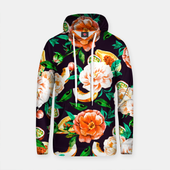 Thumbnail image of Pattern flowers and tropical fruits Sudadera con capucha de algodón, Live Heroes