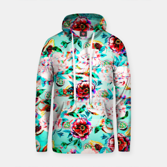 Thumbnail image of Tropical flowery fruit glitch Sudadera con capucha de algodón, Live Heroes