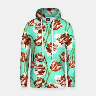 Thumbnail image of Floral pattern with tulips watercolor Sudadera con capucha de algodón, Live Heroes