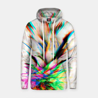 Thumbnail image of Glitch pineapple Sudadera con capucha de algodón, Live Heroes