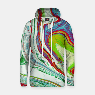 Thumbnail image of Marbled paper Sudadera con capucha de algodón, Live Heroes