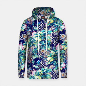 Thumbnail image of Tribal and leopards in the rainforest Sudadera con capucha de algodón, Live Heroes