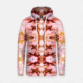 Thumbnail image of Mosaic pattern pink mineral texture Sudadera con capucha de algodón, Live Heroes