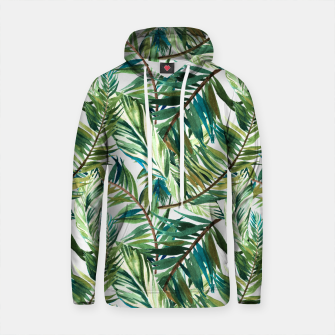 Imagen en miniatura de Leaf the jungle watercolor pattern Sudadera con capucha de algodón, Live Heroes