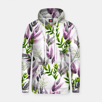 Thumbnail image of Illustration pattern plants Sudadera con capucha de algodón, Live Heroes