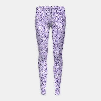 Thumbnail image of Ultra violet light purple glitter sparkles Girl's leggings, Live Heroes
