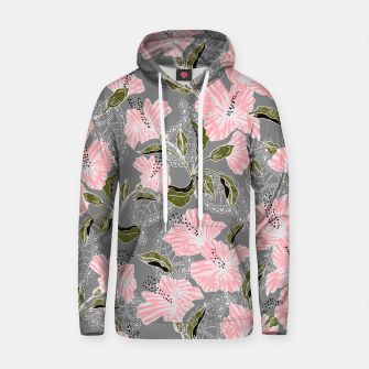Thumbnail image of Flowering pattern illustration pink Sudadera con capucha de algodón, Live Heroes