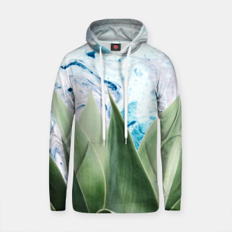 Thumbnail image of Marbled background plant Sudadera con capucha de algodón, Live Heroes