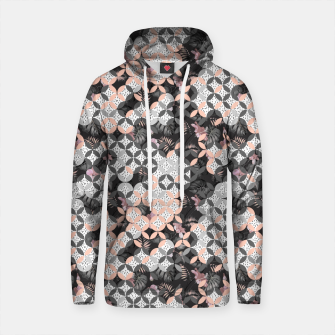 Thumbnail image of Mosaic patterned and flowering Sudadera con capucha de algodón, Live Heroes