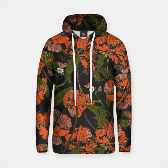 Thumbnail image of Autumnal flowering of poppies Sudadera con capucha de algodón, Live Heroes