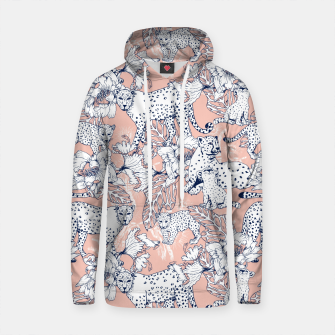 Thumbnail image of Leopards in the pink jungle Sudadera con capucha de algodón, Live Heroes