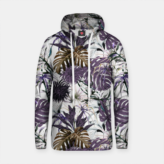 Thumbnail image of Collage Jungle Tropical Illustration Sudadera con capucha de algodón, Live Heroes