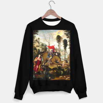 Miniatur Saint George and the Dragon Oil Painting by Sodoma Sweater regular, Live Heroes