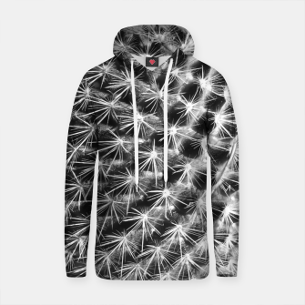 Thumbnail image of closeup cactus texture with morning sunlight in black and white Cotton hoodie, Live Heroes