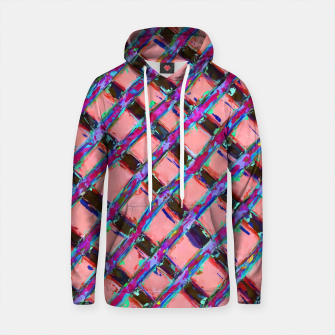 line pattern painting abstract background in pink blue purple Cotton hoodie obraz miniatury