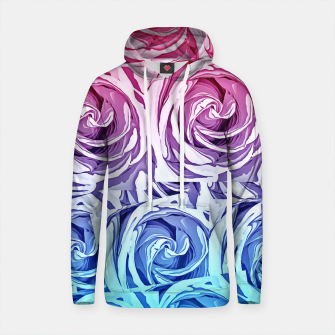 Thumbnail image of closeup pink rose and blue rose texture pattern abstract background Cotton hoodie, Live Heroes