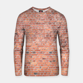 Miniaturka Plain Old London Red / Orange Brick Wall Cotton sweater, Live Heroes