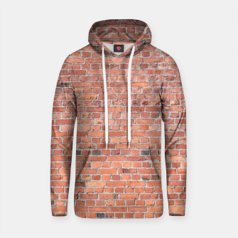 Miniaturka Plain Old London Red / Orange Brick Wall Cotton hoodie, Live Heroes