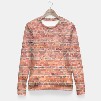 Miniaturka Plain Old London Red / Orange Brick Wall Woman cotton sweater, Live Heroes