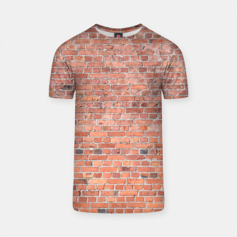 Miniaturka Plain Old London Red / Orange Brick Wall T-shirt, Live Heroes