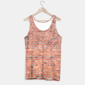 Miniaturka Plain Old London Red / Orange Brick Wall Tank Top, Live Heroes