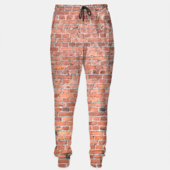 Miniaturka Plain Old London Red / Orange Brick Wall Cotton sweatpants, Live Heroes