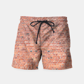 Miniaturka Plain Old London Red / Orange Brick Wall Swim Shorts, Live Heroes