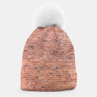 Miniaturka Plain Old London Red / Orange Brick Wall Beanie, Live Heroes