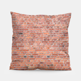 Miniaturka Plain Old London Red / Orange Brick Wall Pillow, Live Heroes