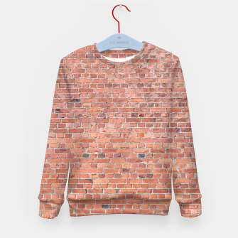 Miniaturka Plain Old London Red / Orange Brick Wall Kid's sweater, Live Heroes