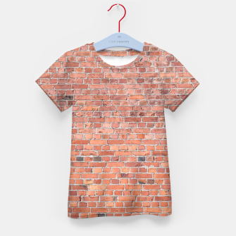 Miniaturka Plain Old London Red / Orange Brick Wall Kid's t-shirt, Live Heroes