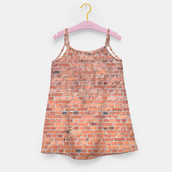 Miniaturka Plain Old London Red / Orange Brick Wall Girl's dress, Live Heroes