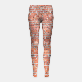 Miniaturka Plain Old London Red / Orange Brick Wall Girl's leggings, Live Heroes