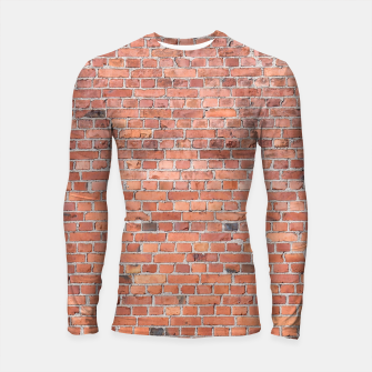 Miniaturka Plain Old London Red / Orange Brick Wall Longsleeve rashguard , Live Heroes
