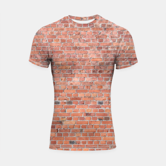 Miniaturka Plain Old London Red / Orange Brick Wall Shortsleeve rashguard, Live Heroes