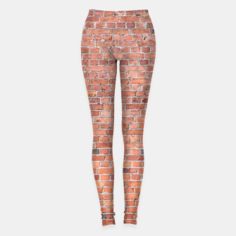 Miniaturka Plain Old London Red / Orange Brick Wall Leggings, Live Heroes