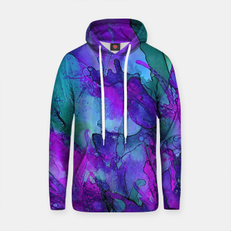 Purple Flower Cotton hoodie imagen en miniatura