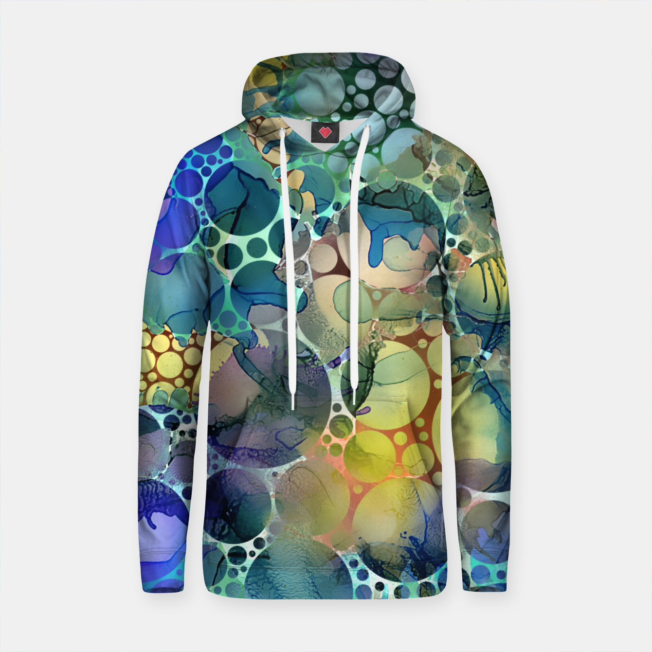 Imagen de Dots on Painted Background Cotton hoodie - Live Heroes