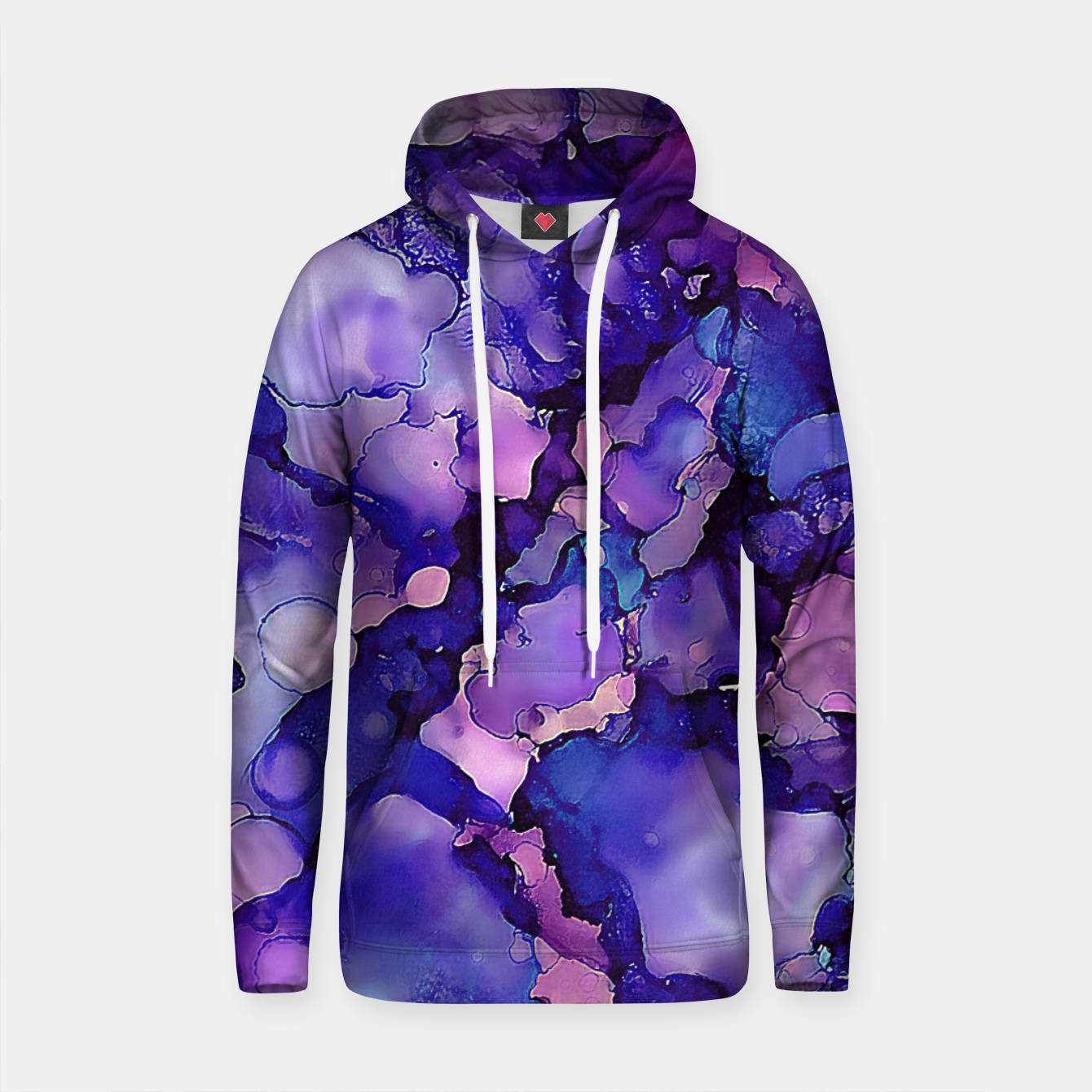 Imagen de Abstract Alcohol Ink Painting 3 Cotton hoodie - Live Heroes