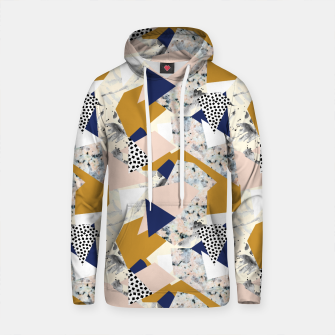 Thumbnail image of Shape of abstract textures Sudadera con capucha de algodón, Live Heroes