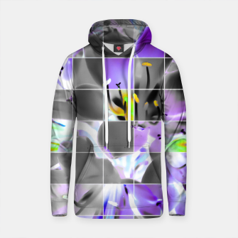 Thumbnail image of closeup purple flower with yellow pollen background Cotton hoodie, Live Heroes