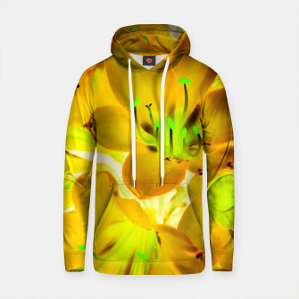 Thumbnail image of closeup yellow flower with green pollen background Cotton hoodie, Live Heroes